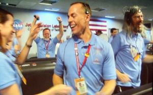 Rob Manning celebrates
