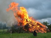 midsummer bonfire