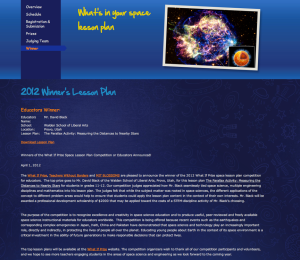 What If Prize Competition Winner Page for 2011.