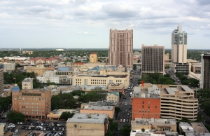 Downtown San Antonio as seen from the Drury Plaza Hotel.