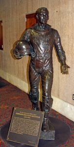 Statue of Ed White, Apollo astronaut and first American to conduct a space walk