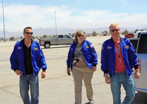 Arriving at the Dryden Aircraft Operations Facility, or DAOF, in our flight jackets.