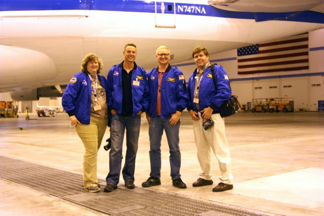 Airborne Astronomy Ambassadors for the week of June 24-28, 2013. Left to right: Carolyn Bushman, Matt Oates, Dan Ruby, and David Black.
