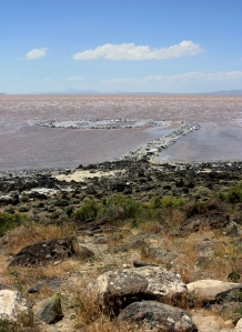 The Spiral Jetty, built by Robert Smithson in 1970.