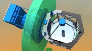 Telescope, pressure bulkhead, and counterweight system on SOFIA