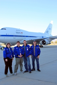 Carolyn Bushman, David Black, Matt Oates, and Dan Ruby with SOFIA