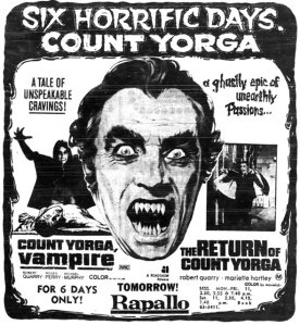 Count Yorga: Vampire. It's amazing what you can find online . . .