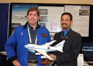 Eddie Zavala, SOFIA Program Manager, and David Black, SOFIA Airborne Astronomy Ambassador
