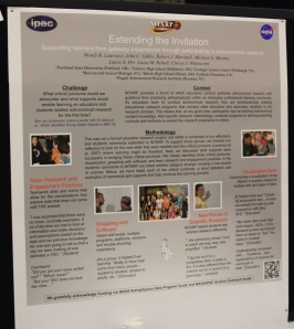 Educational poster on Extending the Invitation to participate in authentic science through NITARP.