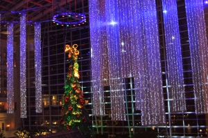 The atrium of the Gaylord National Resort