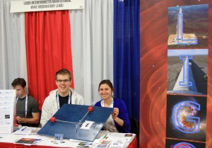 Laser Interferometry Gravity Observatory booth