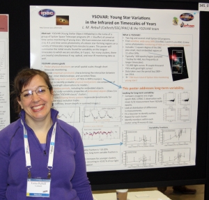 Dr. Luisa Rebull and her poster