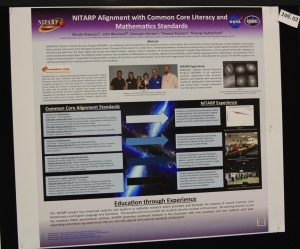 Educational poster on aligning NITARP with the Common Core standards