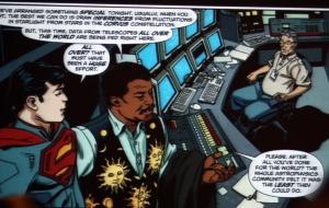 Superman visits the Hayden Planetarium
