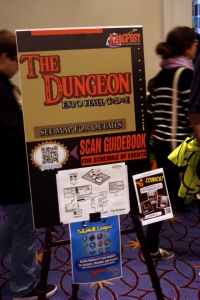 Yes, exhibit halls sometimes do feel like dungeons . . .
