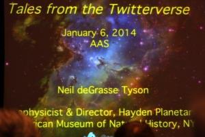Title slide for Neil deGrasse Tyson's talk