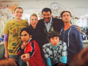 Tyson with the cast of Big Bang Theory
