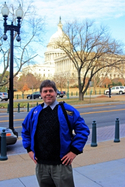 David Black with the U. S. Capitol Building, Jan. 9, 2014.