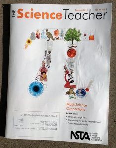 Cover of The Science Teacher, Summer, 2014. My article is inside!