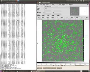 IRAF and DS9 showing a Coordinate file for NGC663.