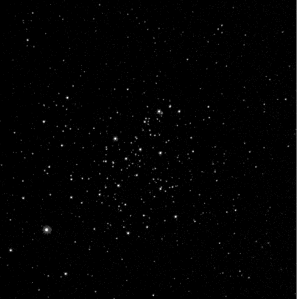 M67 through a narrow-band hydrogen-alpha filter from my .fits files