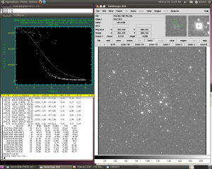 Light curve for a saturated star - the top of the curve is a plateau. The High Good Datum is just below the plateau.