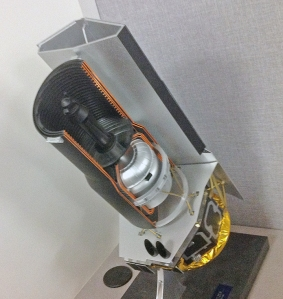 A model of the Spitzer Space Telescope.