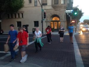 NITARP students exploring Old Town Pasadena.