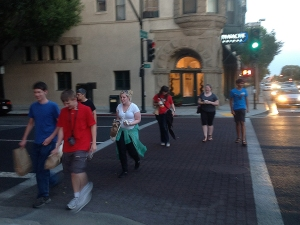 NITARP students exploring Old Town Pasadena.
