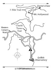 Road map to Griffith Observatory.