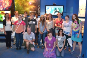 NITARP students and teachers in the Von Karman Museum at JPL; July 2014.
