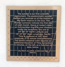 Sundial plaque