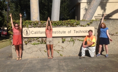 Walden studs at Caltech sign-s