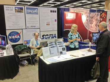 SOFIA booth at 2015 AAS
