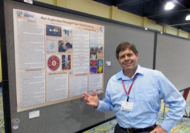 David Black with poster