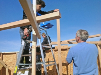 Jason and Mike building habitat-s