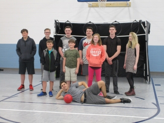 Sports group with goal-s