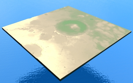 Gale crater 3D