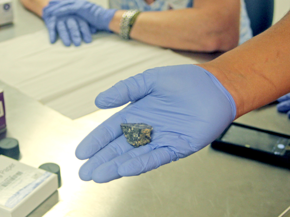 Lunar meteorite I dropped