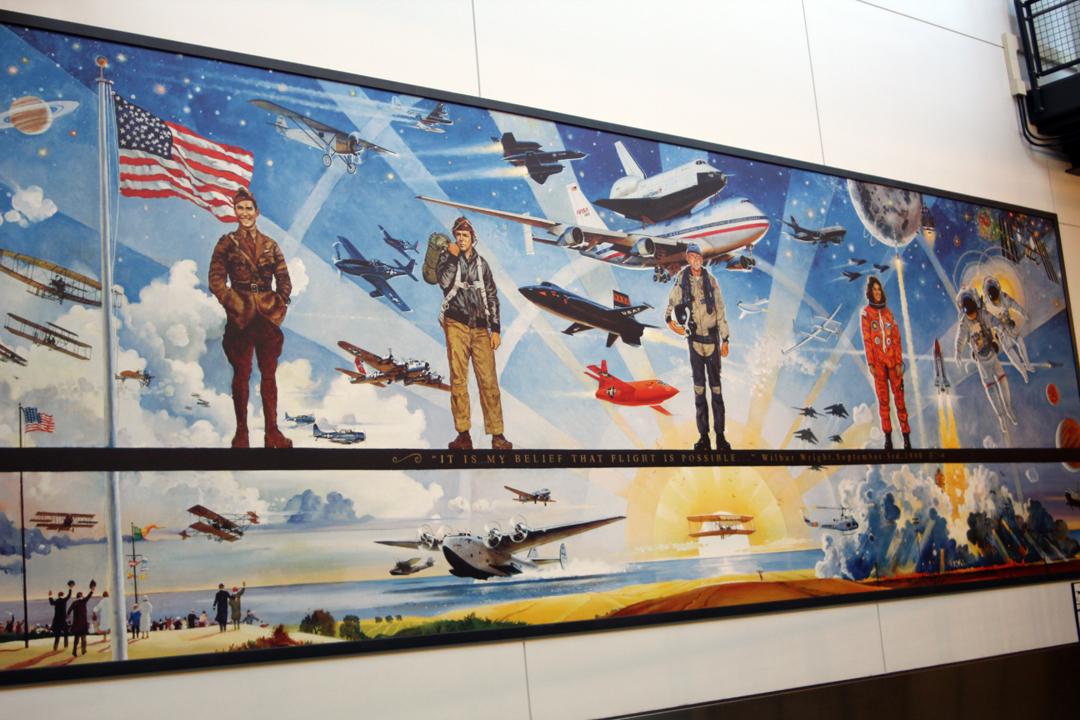Milestones of flight mural