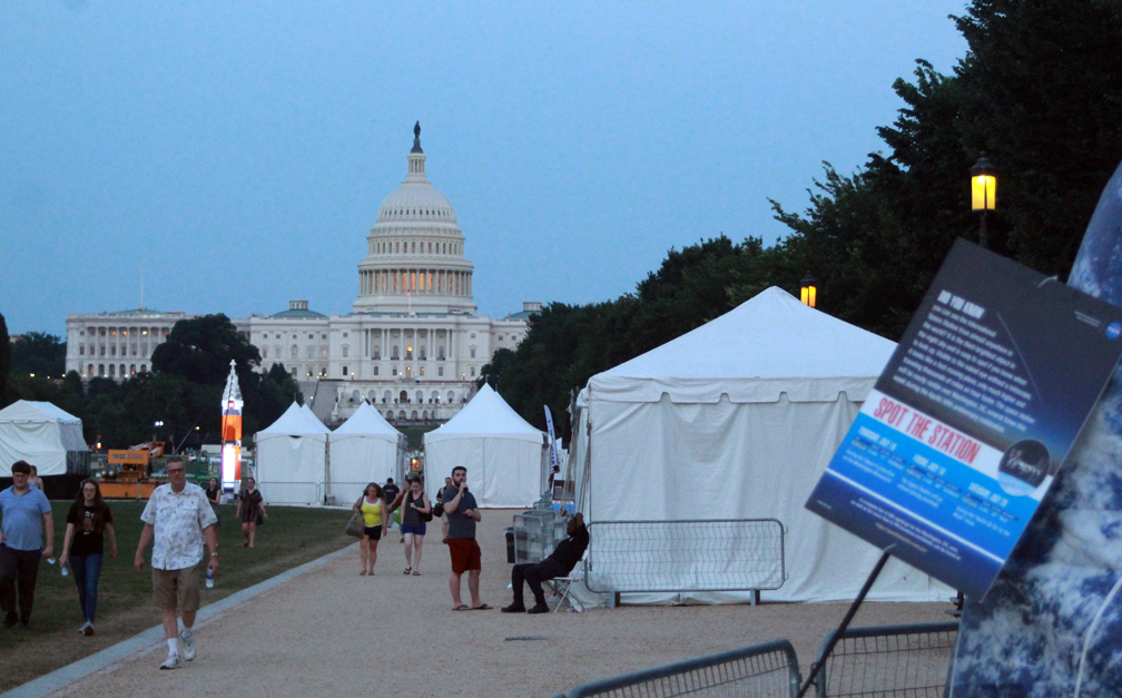Tents in twilight by Capitol
