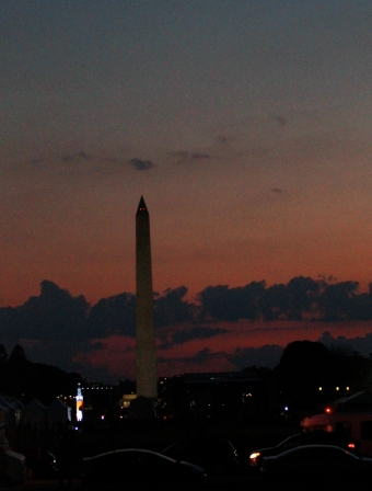 Washington Monument at twilight