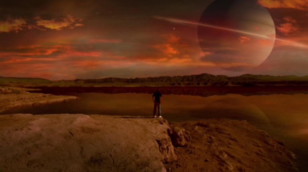 Chris with methane lake -s