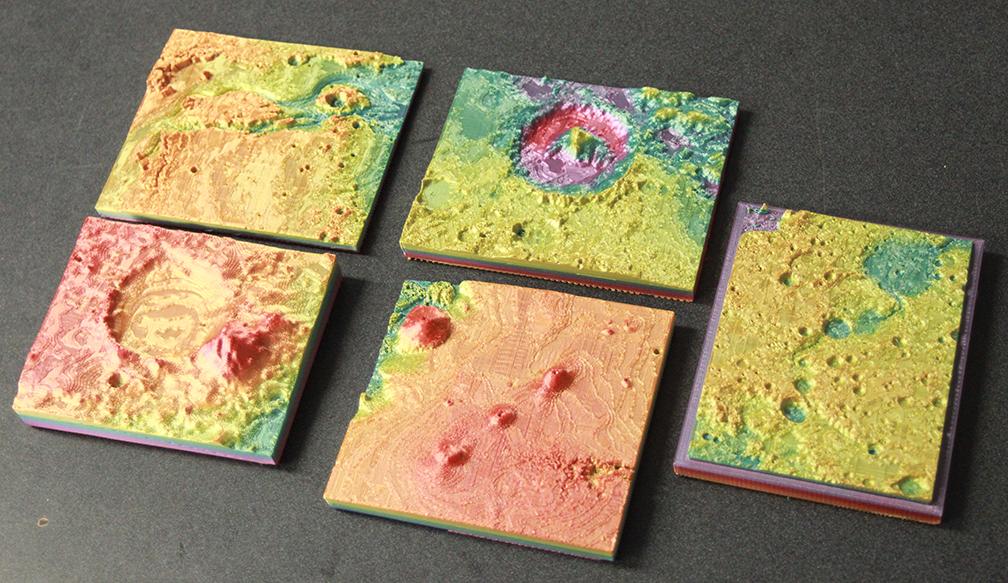 Five Mars models